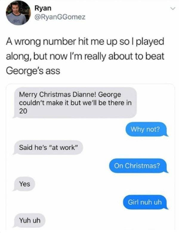 Wrong Number Messages