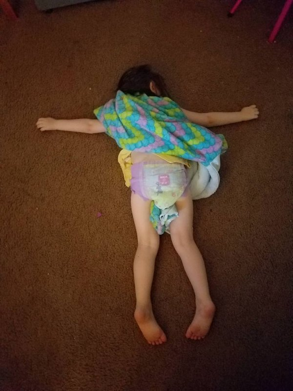 Kids Sleep In Different Places And Positions