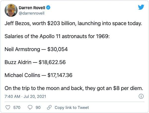 Jeff Bezos Went To Space Tweets