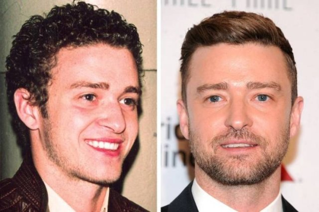 Male Celebrities: Then And Now