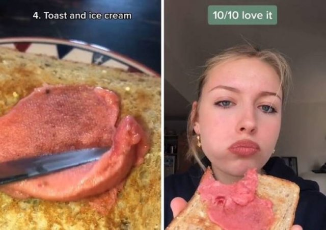 Woman Tries Different Pregnancy Food Cravings