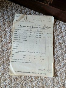 American Medical Bills From The 20'th Century