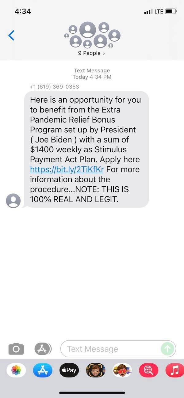 Scammers Texts