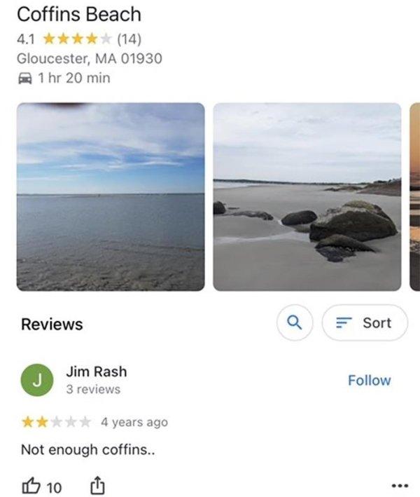 Online Reviews, part 2