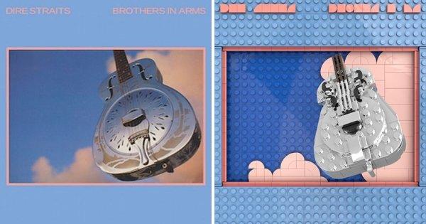 Lego Recreations Of Iconic Album Covers