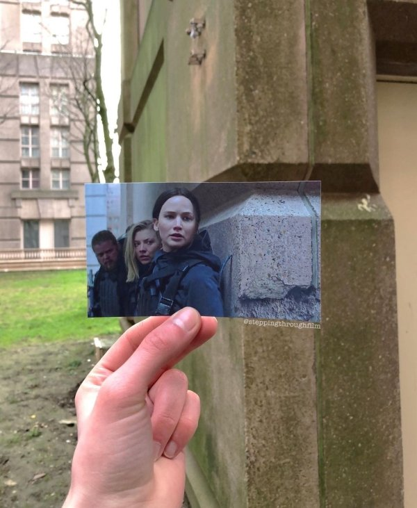Film Frames Matched With Their Real Locations