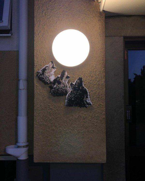 Pixelated Street Art