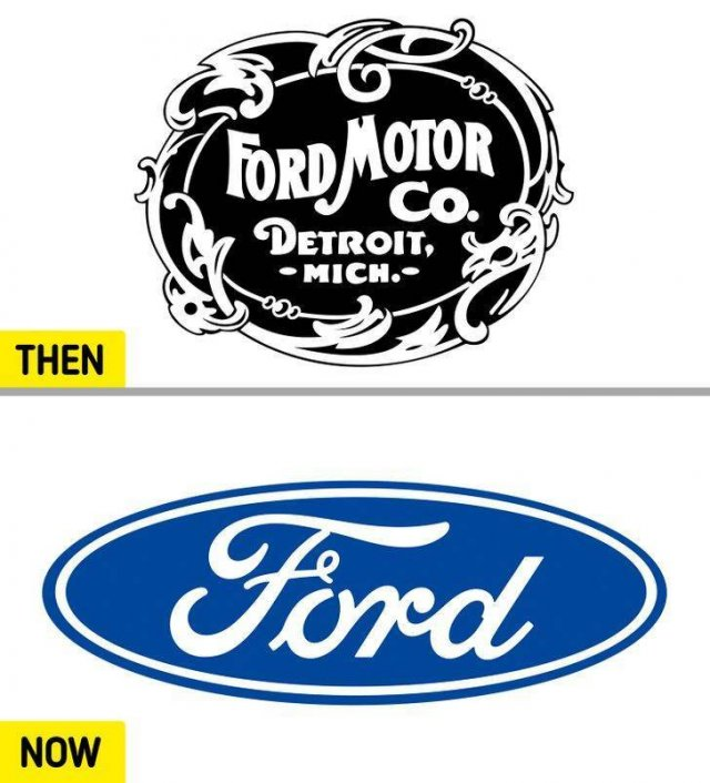 Popular Brand Logos: 50 Years Ago And Now