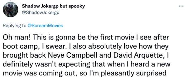Scream Movie Trailer Tweets